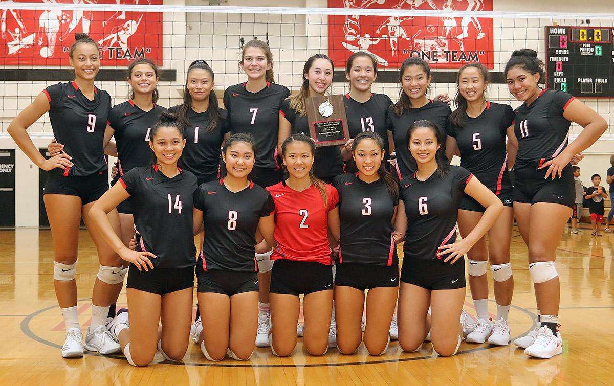 2018 Ann Kang Invitational Volleyball Tournament Champions 'Iolani School Raiders